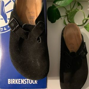 Black Boston Soft Bed Birkenstock's